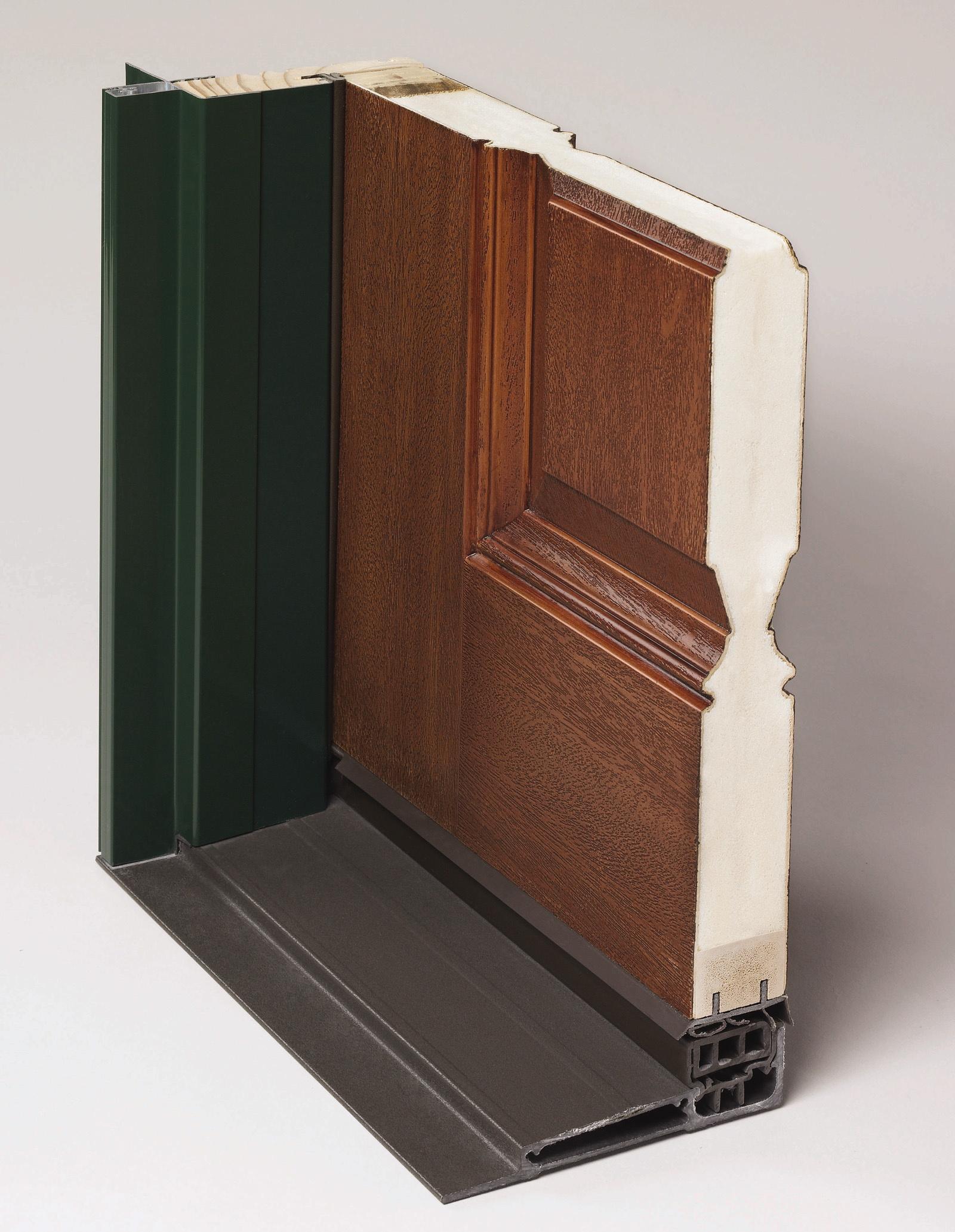 Delightful ... Photo   Insulating Foam Fills The Core Between The Stainable Fiberglass  Door Skins.   Peachtree Doors