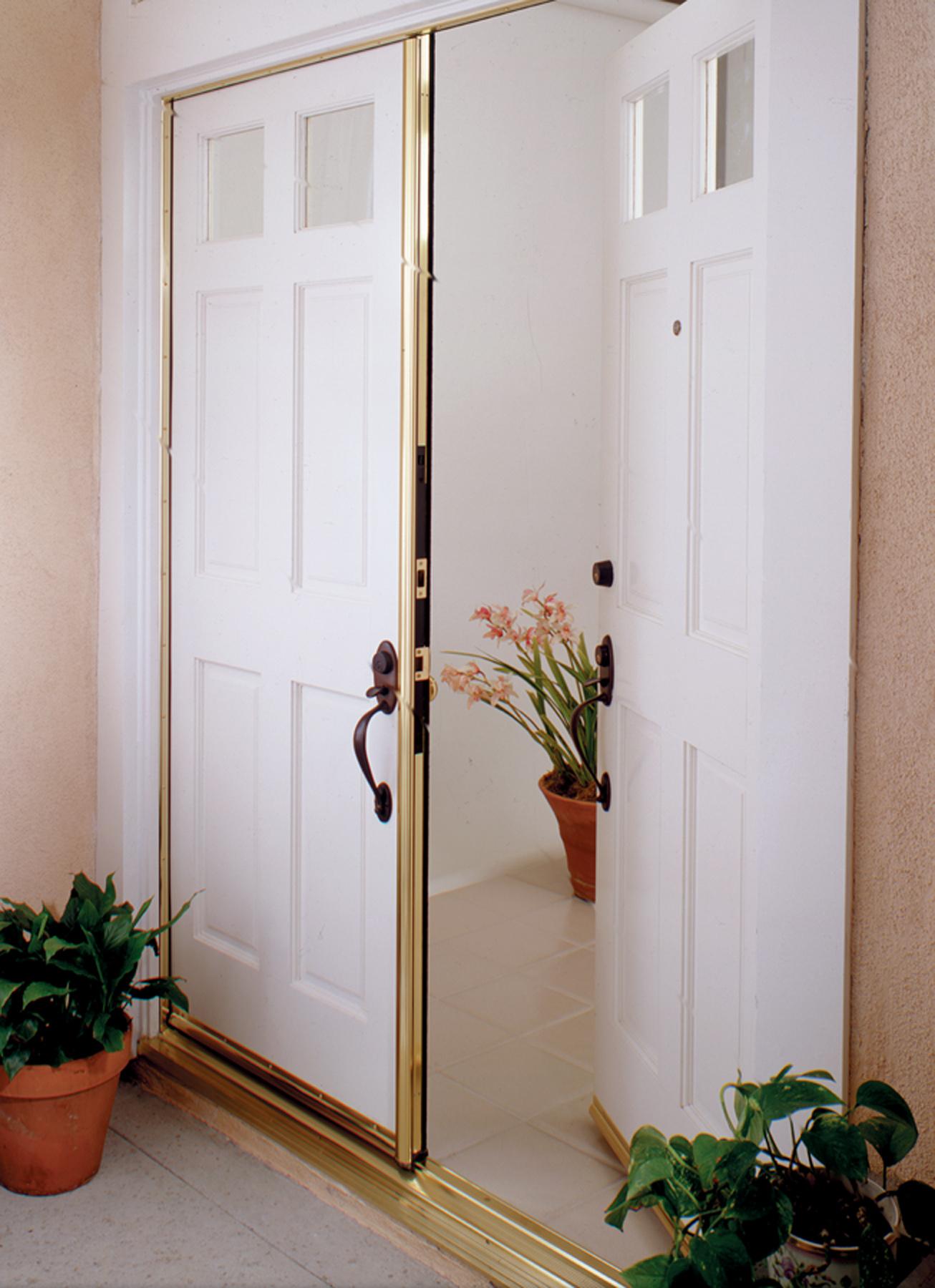 Pemko door astragal pemko 356dv80 t astragal 80 for Double door replacement