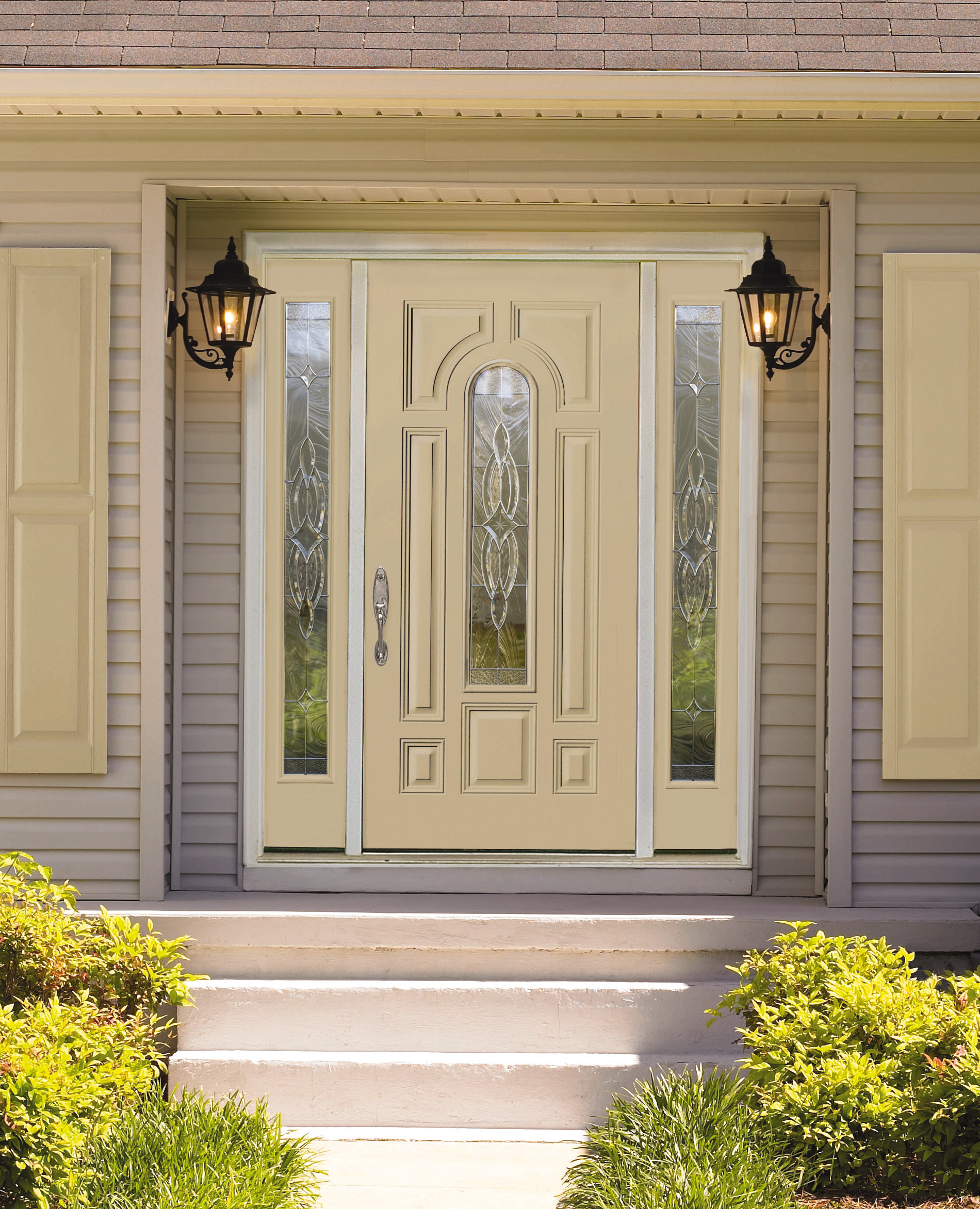 Dulley column color graphics for Peachtree exterior doors