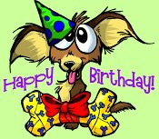 James dulley greeting cards do you know somebody who has a birthday coming up this silly dog offers his own gift to the birthday person priced right too tight for time no problem m4hsunfo