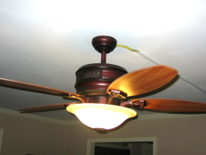 Open house tour of james dulleys home living room office heaterceiling fan by reiker 493 aloadofball Image collections