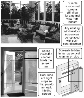 ... several types of retractable door screening kits.  sc 1 th 242 & 813 - Retractable screen kits (doors/windows) are attractive convenient
