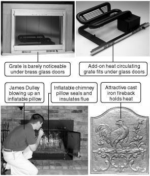 553 turn your fireplace into a real heat producer with simple rh dulley com  heat circulating grate for wood fireplace